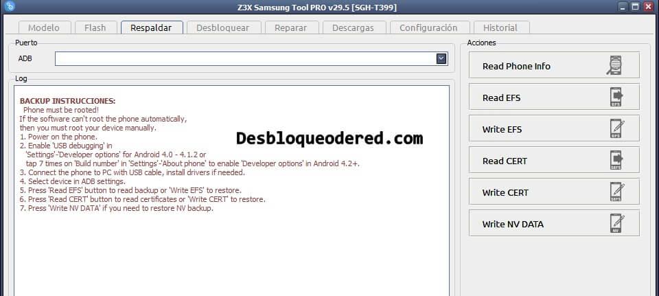 Como usar z3x Samsung tool