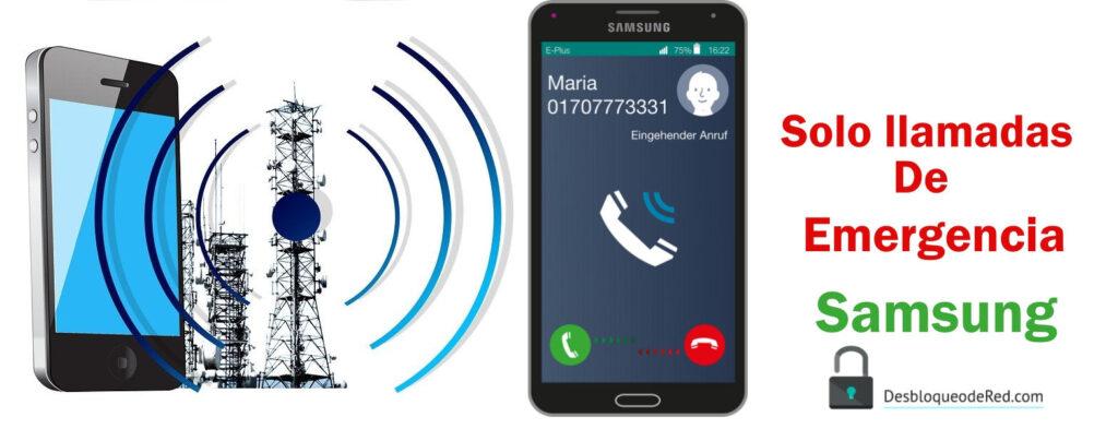 Reparar solo llamadas de emergencia samsung j7